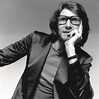 Yves Saint Laurent in this 1970 David Bailey photograph.