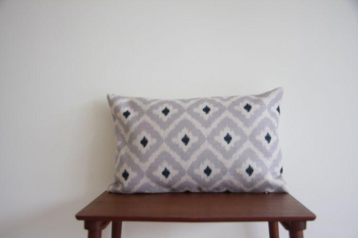 "14"" x 20"" Decorative Pillow Cover Grey IKAT BOHO Cushion Cover Geometric Pattern Throw Cushion Minimalist Pillow Cover 50cm x 35cm by BeadandReel on Etsy https://www.etsy.com/listing/235016116/14-x-20-decorative-pillow-cover-grey"