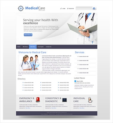 Medical Care / jQuery Slider / DNN Skin