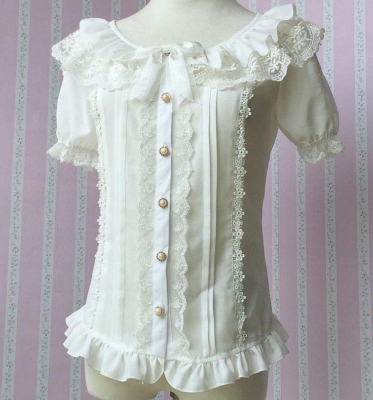 Aliexpress.com: Comprar 2015 verano nuevo blanco de la muchacha de la gasa del arco Lolita vestido de la escuela blusas y camisas en venta ZJY008 de comprueban la camisa fiable proveedores en ShenZhen Vogold Technology Co Ltd