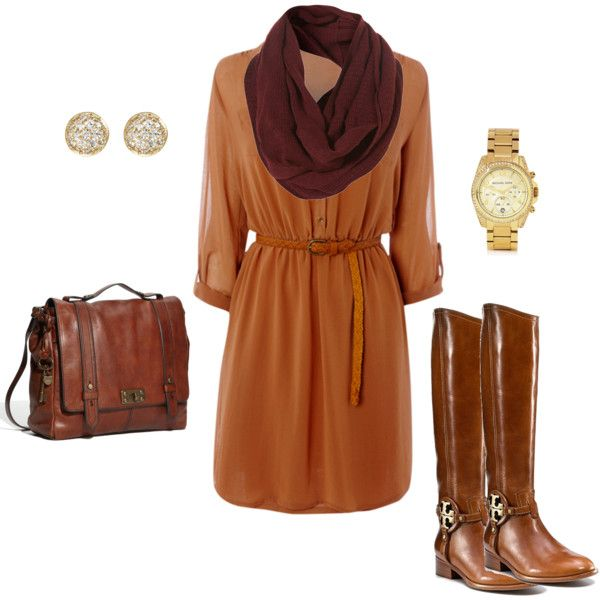 le gasp: Fall Colors, Clothing Style, Colors Outfit, Fall Work Outfits, Fall Outfits, Teaching Outfit, Brown Boots, Clothes Purses, Fall Dresses