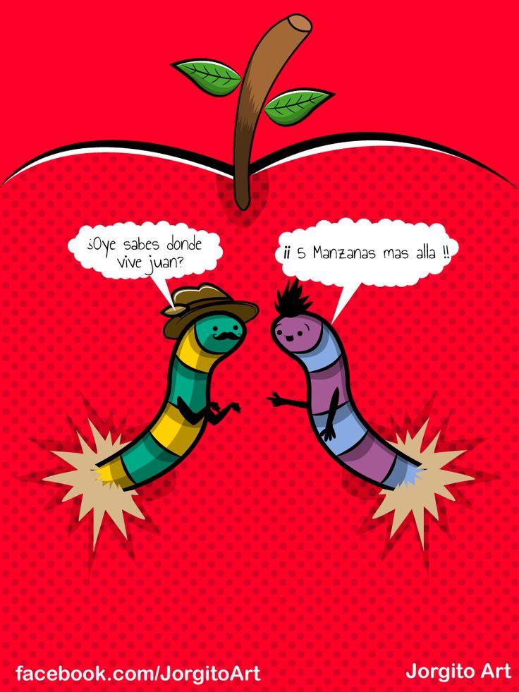 Idioma de gusanos #Diseñosparacamisetas #facebook.com/Jorgitoart