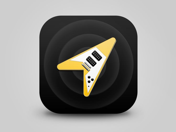 Flying-V guitar icon • Refined by Miklos Barton