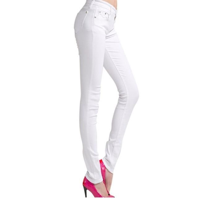 Women's Candy Pants Pencil Trousers Fall Stretch Pants Women Slim Ladies Jean Trousers Female 2017 Autumn&Winter Plus size 4XL
