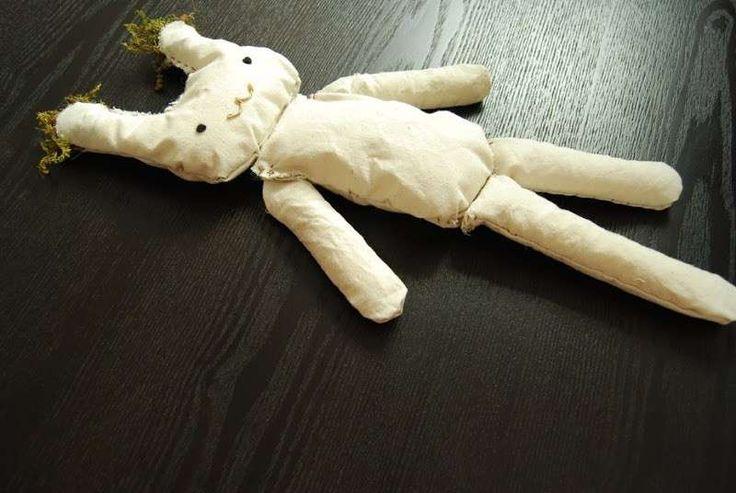Bambole di pezza e di stoffa fai da te - Bambola di pezza fai da te: il coniglio