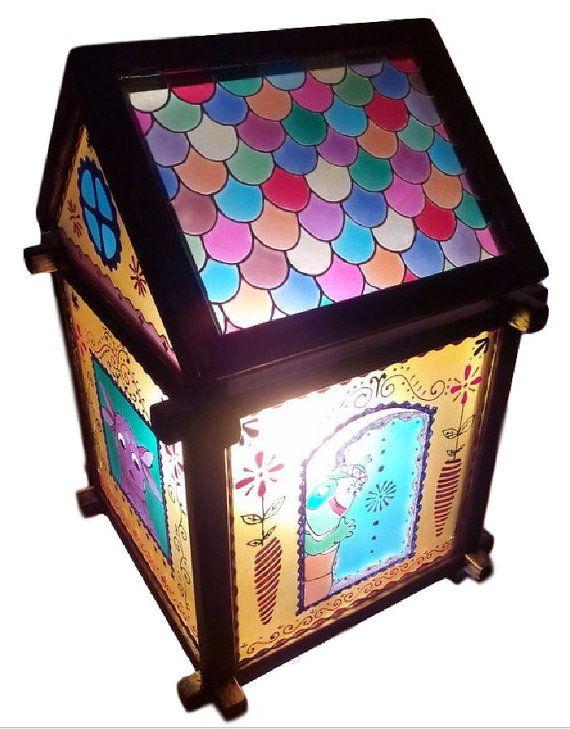Светильник витражный для детей Домик любимых от Stainedglasss500