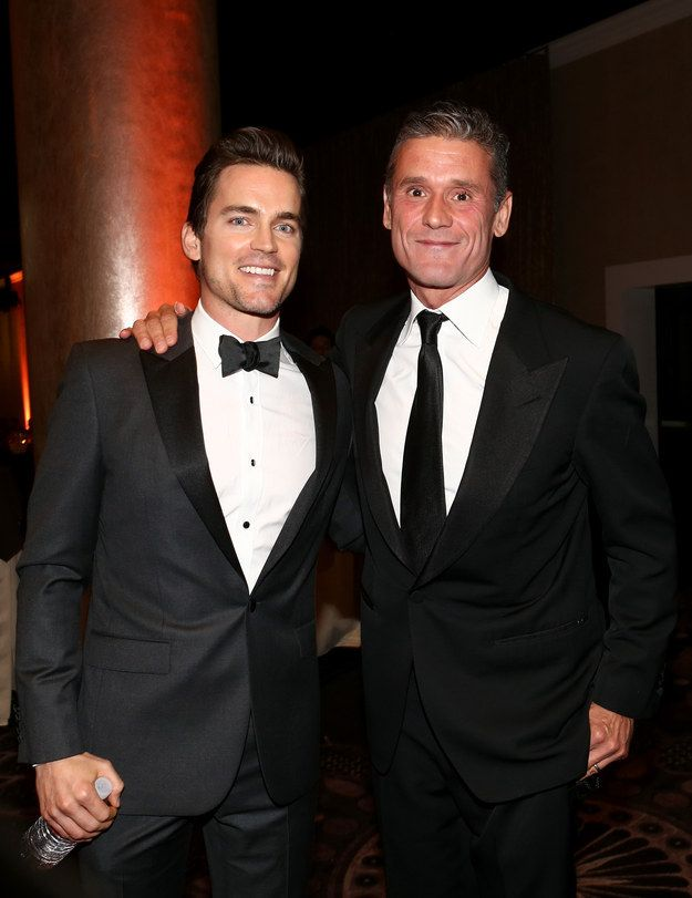 And he's a family guy, too. Here he is with his husband Simon Halls. They have three kids together. | A Gentle Reminder That Matt Bomer Can Get It