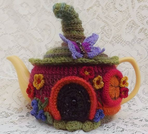 Fairy Cottage Teapot Cozy by SunshineCottage on Etsy