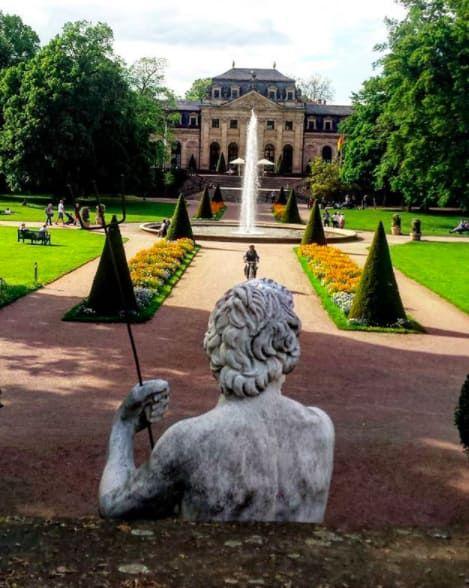 Der Schlosspark in Fulda.