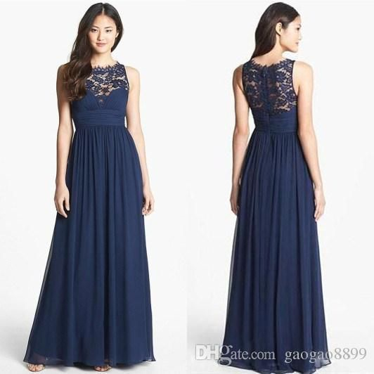 Cheap dark navy blue wedding guest bridesmaid dresses lace for Cheap wedding guest dresses