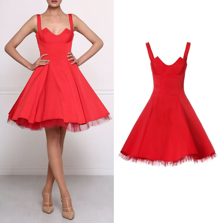 Look at Isabel Garcia catchy red dress with puffy full- circle skirt. Now you are able to order it online! http://bit.ly/1LBNrRX