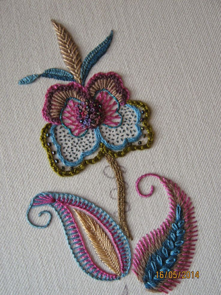♒ Enchanting Embroidery ♒  embroidered flower
