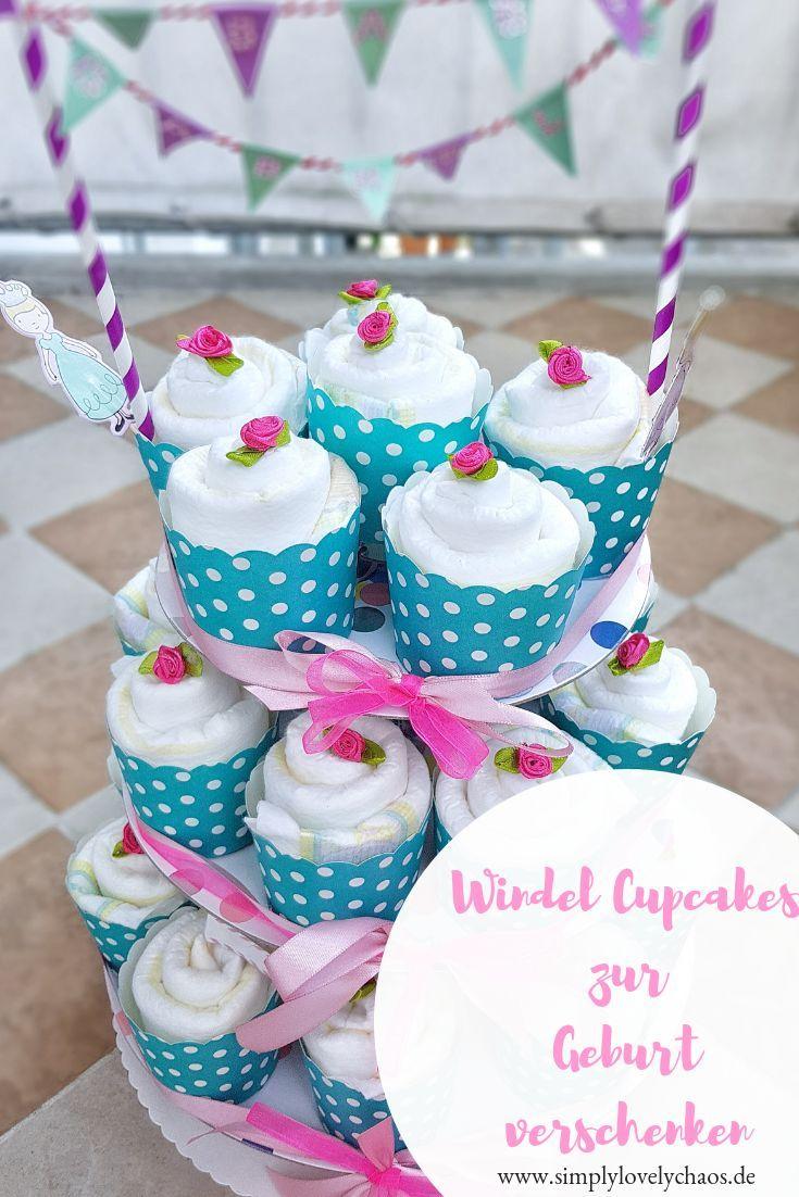 Hallo Baby Windel Cupcakes Geschenk Zur Geburt Geschenke Zur Geburt Basteln Geschenkideen Zur Geburt Und Diy Geschenke Geburt