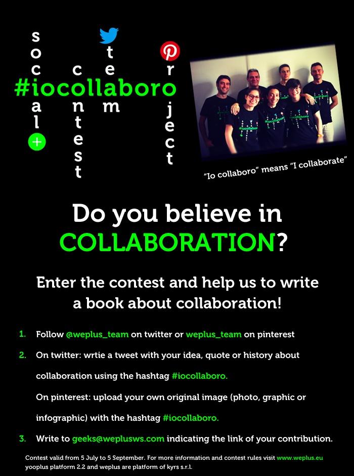 #socialcontest #iocollaboro #rules