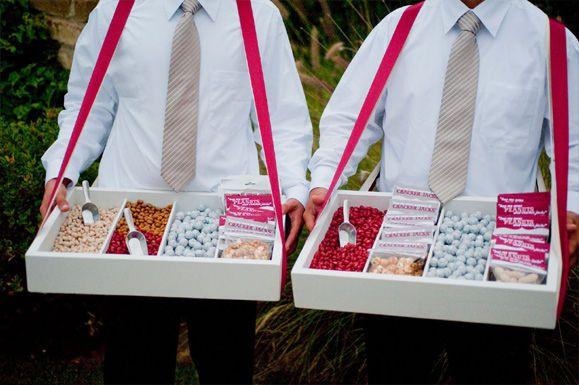 pour le mariage! se promener avec des bonbons!