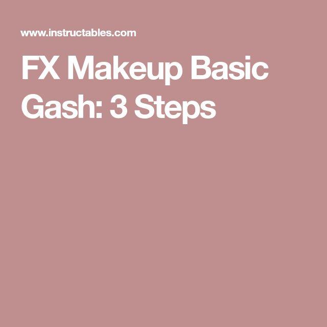 FX Makeup Basic Gash: 3 Steps