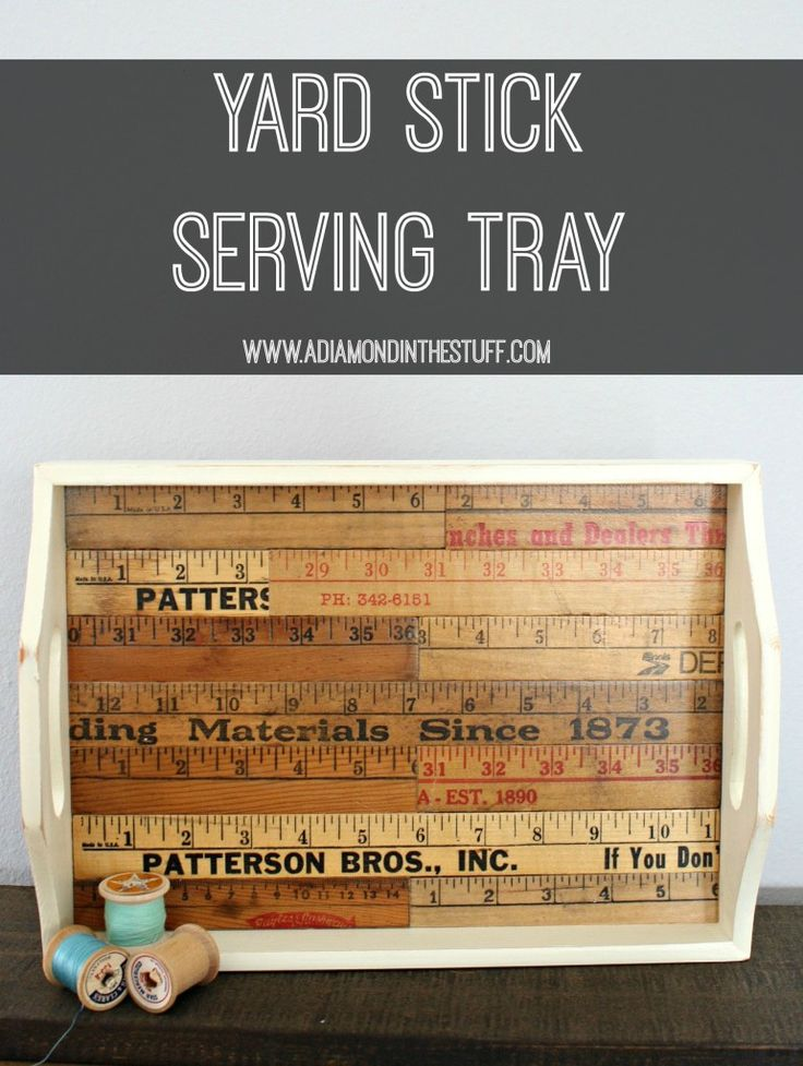 Yard Stick Serving Tray | A Diamond in the Stuff