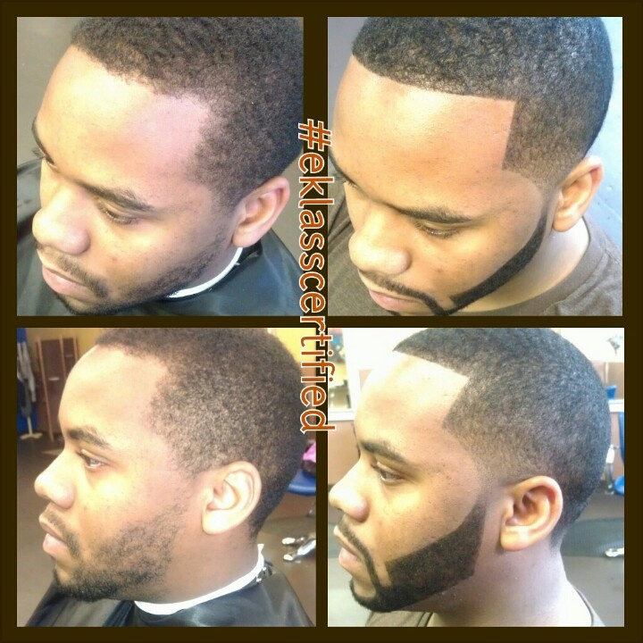 Before And After Bigen Color Application To Beard And