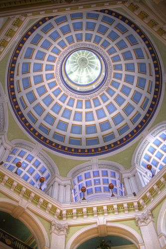 Looking Up | Inside the Port Of Liverpool Building - Pierhead, Liverpool, UK