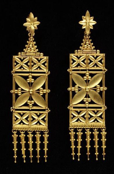 Earrings by Carlo and Arthur Giuliano,, ca. 1865-ca. 1870 (made)