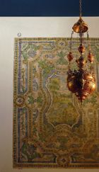 Lampada in rame e corallo - Pannello in ceramica-Il Museo Agostino Pepoli- Sicilia
