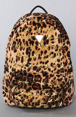The Star Burst Leopard Back Pack by Joyrich...Super cute for school =D