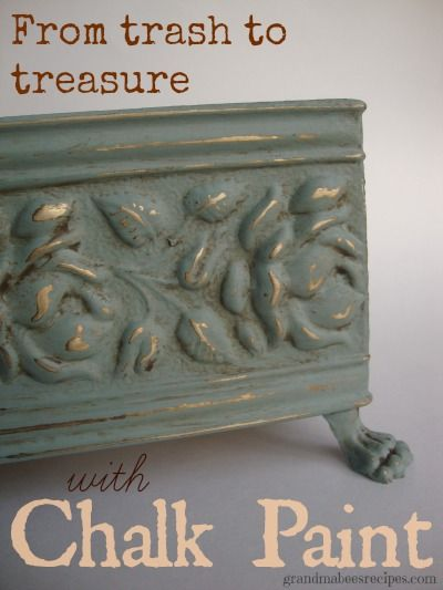 From Trash to Treasure with Chalk Paint - LOVE this stuff!