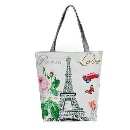 Arrival Female Canvas Shopping Bag European Style Fashion Printing Women Handbags Canvas Beach Bags For Girls H46