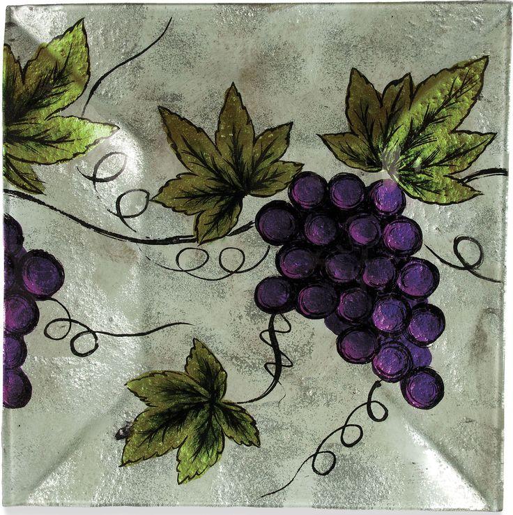 Vineyard Grape Square Plate (Set of 3)