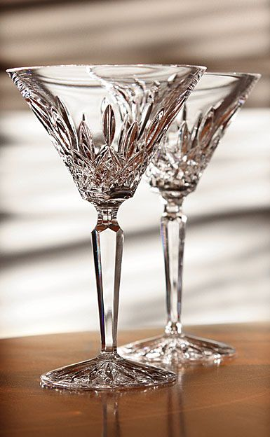 Waterford Classic Lismore Martini Glass - Pair