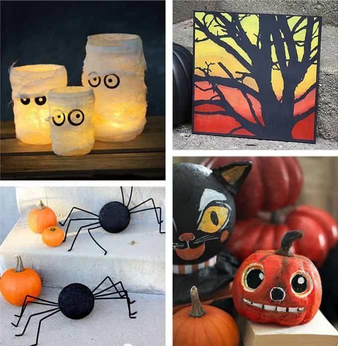 Vintage Halloween Decorations Halloween Decorations Ideas Halloween Decorat With Images Halloween Diy Crafts Halloween Diy Crafts Decoration Halloween Crafts Decorations