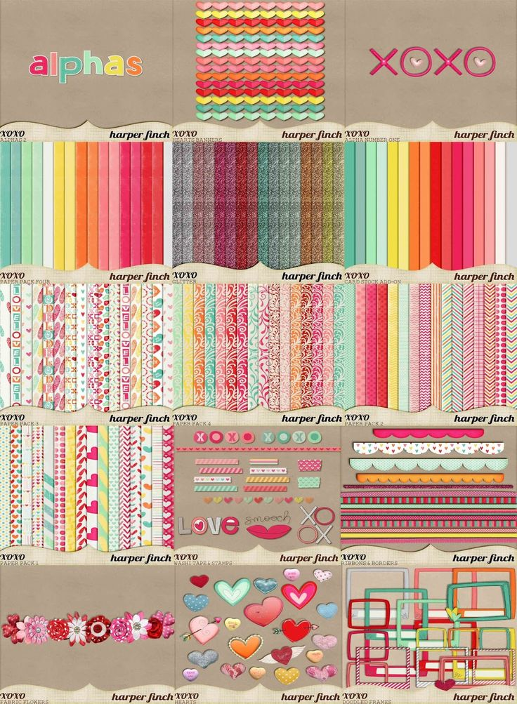 Harper Finch: Great collection of digital scrapbooking freebies.