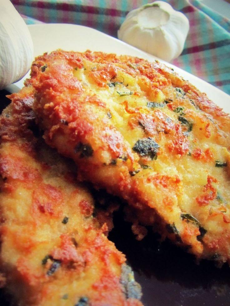ȘNIȚEL ITALIAN DE PUI - CU USTUROI, PARMEZAN ȘI PĂTRUNJEL - Reţete rapide, uşoare şi delicioase - Aventurile noastre ... culinare