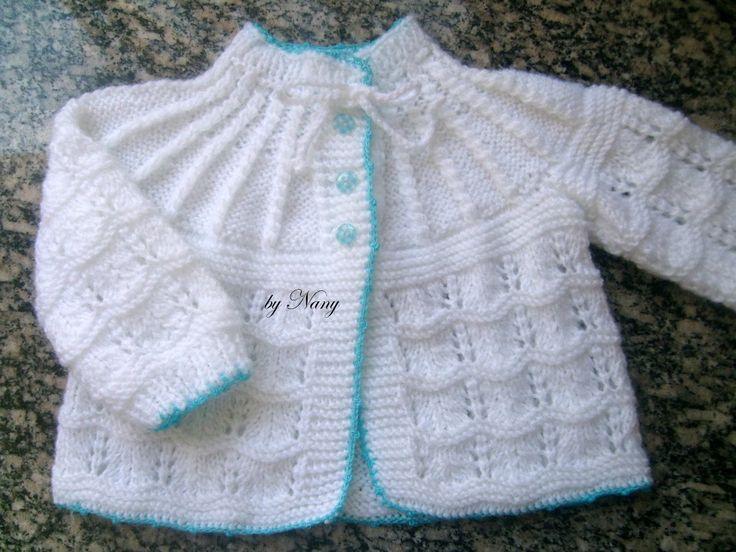 1000 Artes: Casaquinho Bebê Branco - Tricô