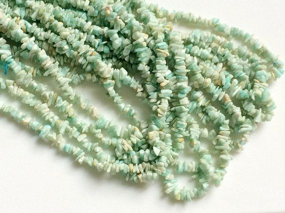 WHOLESALE 5 Strands Amazonite Chips Amazonite by gemsforjewels