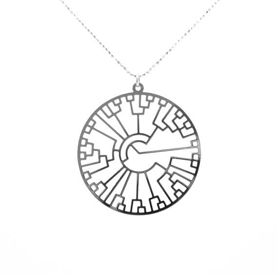Evolution tree Phylogenetic tree necklace Tree of life by Delftia, $42.00