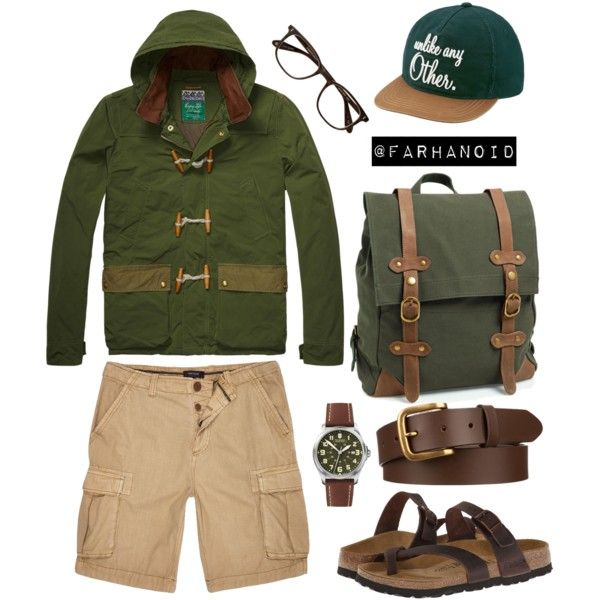 """Scoth and toggle hooded Jacket"" by farhanoid on Polyvore"