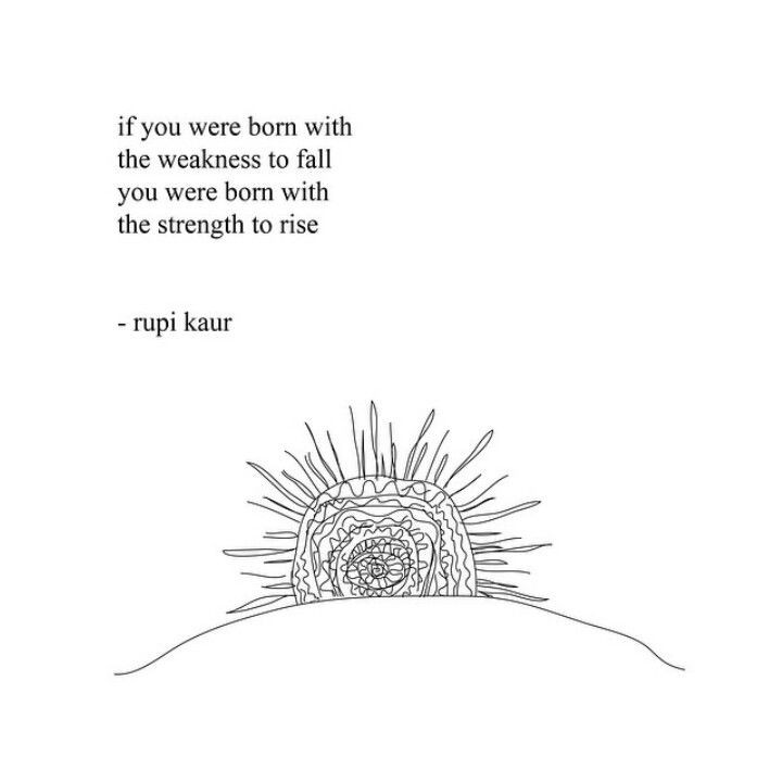 Image result for rupi kaur if you were born with the weakness