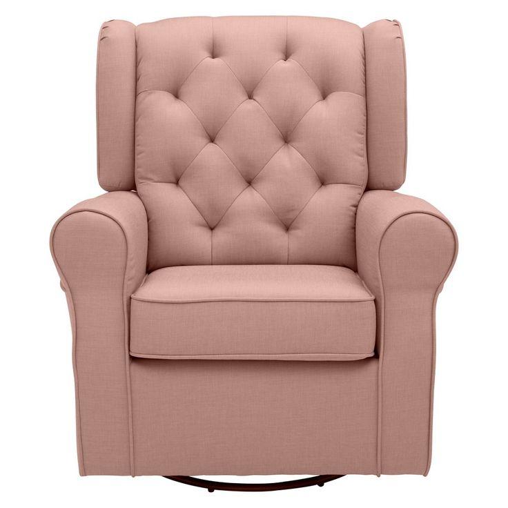 Delta Children Emma Nursery Glider Swivel Rocker Chair – Blush