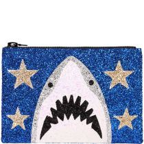 Blue Shark Glitter Clutch Bag | I Know The Queen
