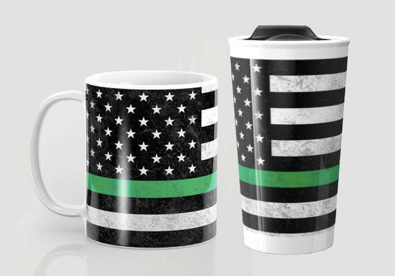 Thin Green Line Mug & Travel Mug  4 Sizes  by ForgetSundayDrives on Etsy. Thin Green Line. Border Patrol. Border Patrol Wife. Park Ranger. Park Ranger Wife. Gifts for Her. Gifts for him.  Army. Military. Military Wife. Army Wife. Federal Agent. Federal Agent Wife. Game Warden. Game Warden Wife. Support. Pride. Conservation Personnel. Wife. American Flag. Drinkware. Ceramic. Metal. Stocking Stuffer.