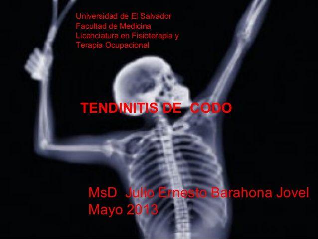 Tendinitis de codo p by julioebarahona via slideshare