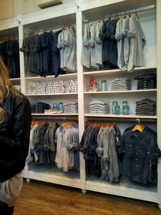 Denim wall @ Madewell store NYC | Visual merchandising ...