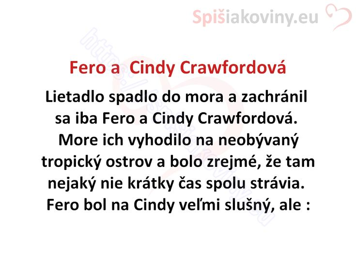 Fero a Cindy Crawfordová - Spišiakoviny.eu