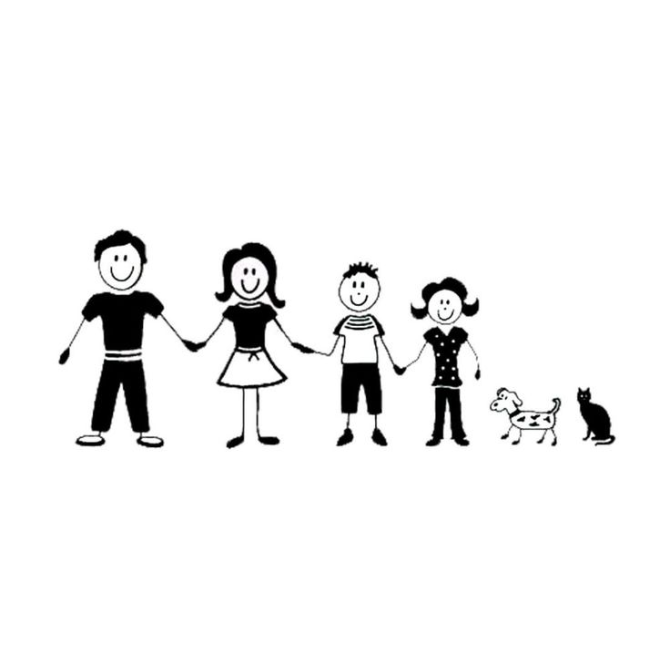 Details About Family Car Decal Window Sticker Stick Figure