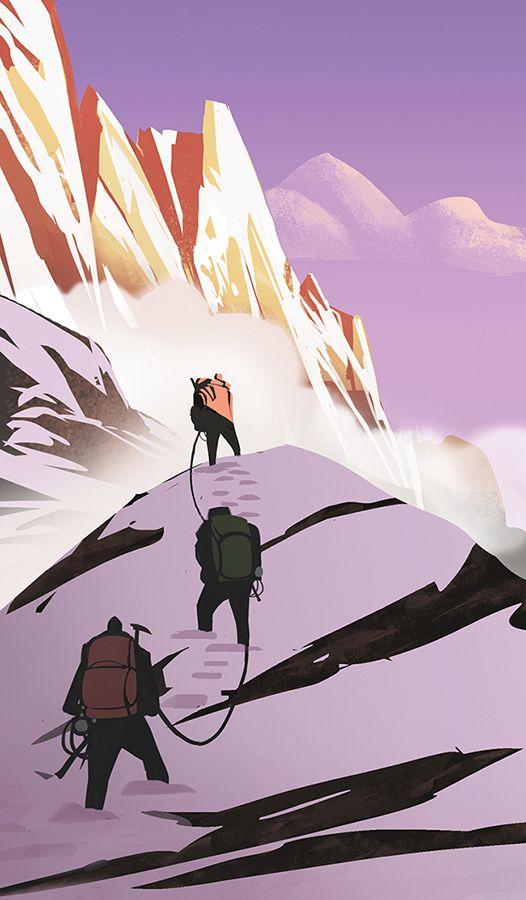 17 meilleures id es propos de dessin montagne sur - Peinture qui cache les defauts ...