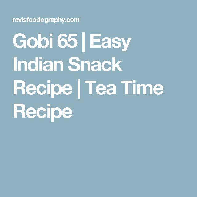 Gobi 65 | Easy Indian Snack Recipe | Tea Time Recipe