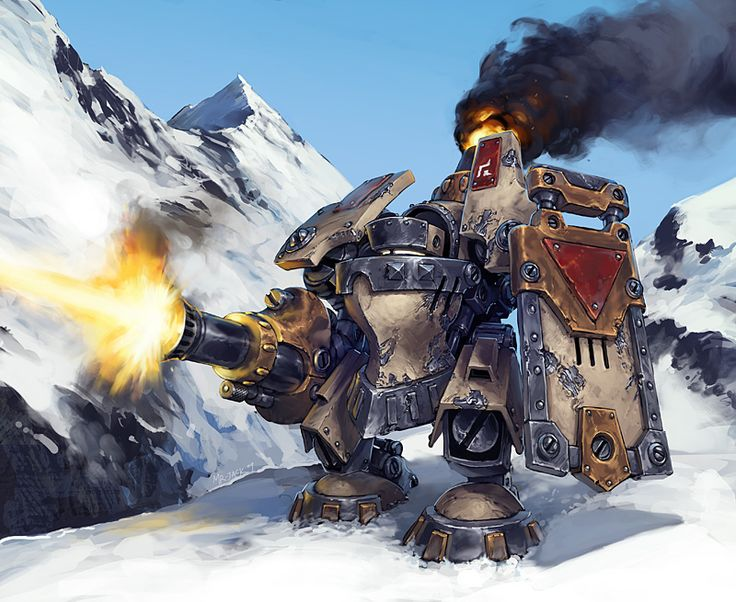 Searforge (Rhulic) Ghordson Avalancher Heavy Warjack  by *Mr--Jack on deviantART