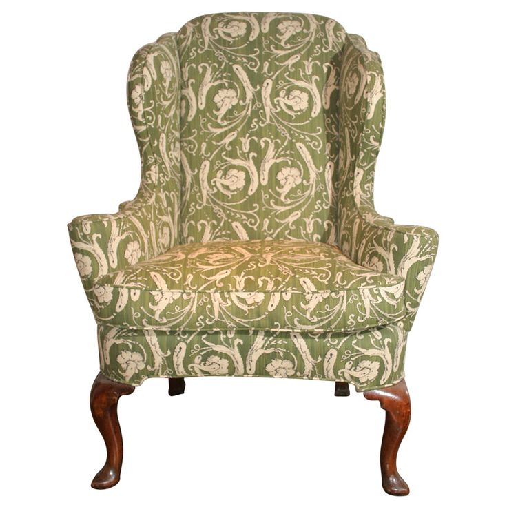 Queen Anne antique walnut wing chair c.1710 | From a unique collection of antique and modern wingback chairs at http://www.1stdibs.com/furniture/seating/wingback-chairs/