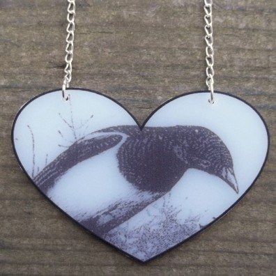 I Heart a Magpie Necklace